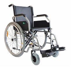 Wózek inwalidzki stalowy i aluminiowy